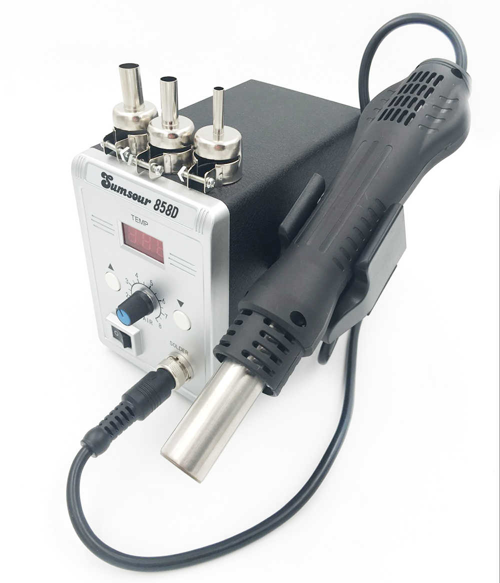 Новый Пистолет горячего воздуха 858D паяльная станция для деталей поверхностного монтажа SMD 110 V/220 V 700W Тепловая пушка для сварочных ремонтных инструментов