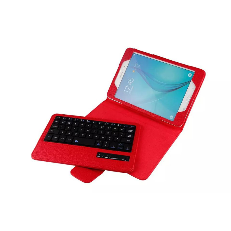 Removable Wireless Bluetooth Keyboard +PU Leather Cover protective smart Case for Samsung Galaxy Tab A 8.0 T350 T351 T355 removable wireless bluetooth russian hebrew spanish keyboard stand pu leather case for samsung galaxy tab a 9 7 t555 t551 t550
