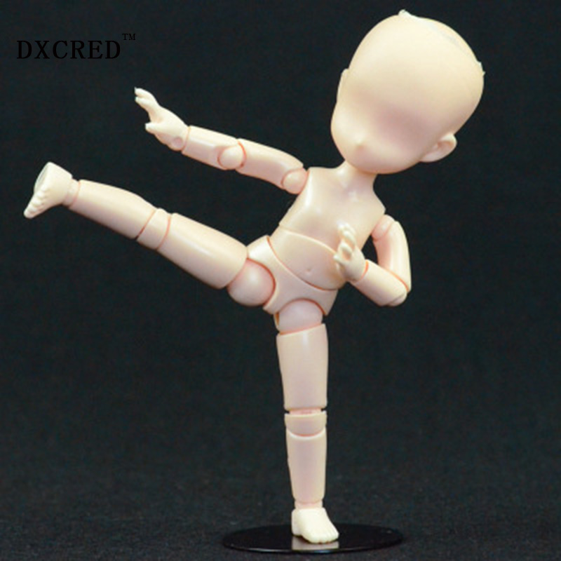 14cm Child Movable body joint Action Figure Toys artist Art painting Anime model Q version doll Mannequin Art Sketch Draw kingcamp child action 3834