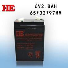 IL 6 v 2.8ah 20hr batterie au plomb petit recharge batterie pour éclairage de secours électronique échelle solaire système 65*32*97mm