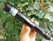 Best Buy Super Powerful Blue Laser pointer 100000mw/100W 450nm Led Flashlight Burn match/Dry wood/Black/Cigarettes+5 caps+Charger+Box