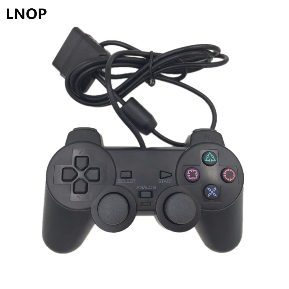 LNOP Wired controller Gamepad para PS2 Sony Playstation 2 joystick ps2 console Duplo Vibração Joypad de Choque Pad wired game pad