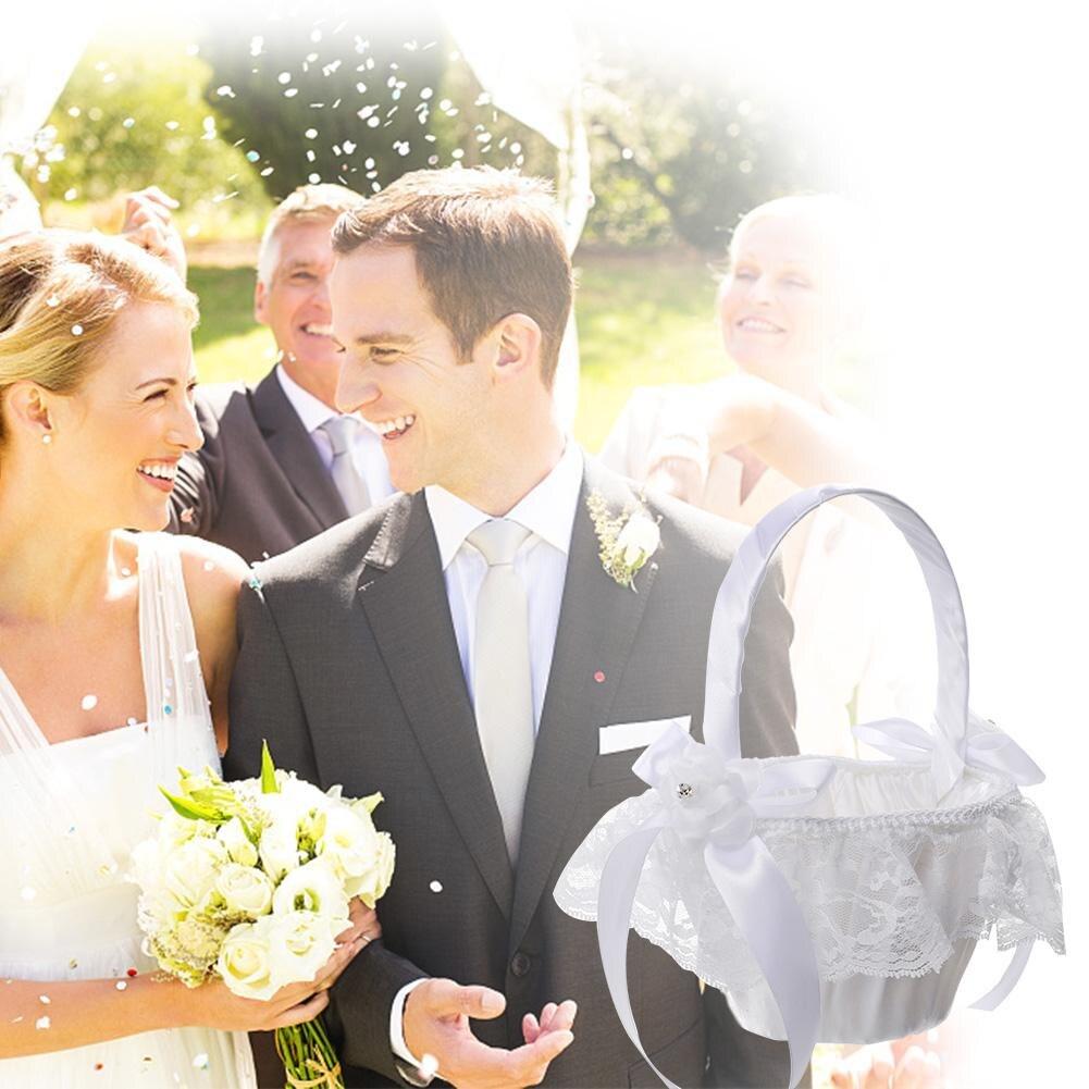 Cute Outdoor Wedding Ideas: Romantic Cute Western Style Satin Wedding Lace Bow Bride