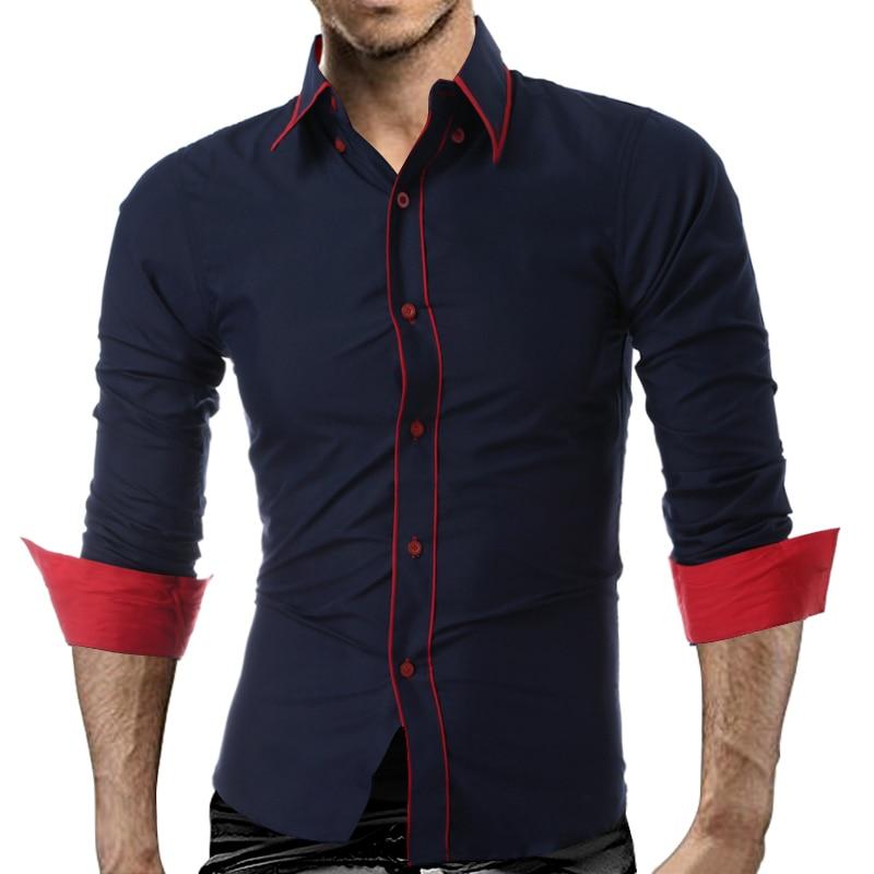 Camisa de hombre 2018 Marca de moda para hombre Sólido de solapa - Ropa de hombre