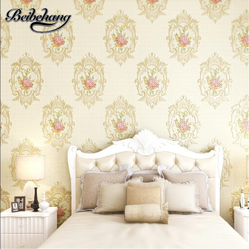 Beibehang papel de parede pastoral three-dimensional 3D sculpture wallpaper bedroom living room TV backdrop non-woven wallpaper beibehang 3d precision three dimensional nonwoven papel de parede 3d wallpaper classic warm living room bedroom wallpaper tapety