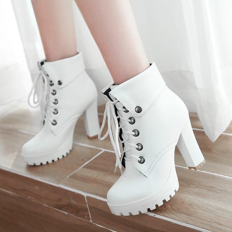 D'hiver Bottes Haut white brown Femmes Sexy forme Et Chaussons Talon Cheville Grandes Plate Automne Ceinture Tailles Boucle De Romain Noir Blanc Brun Black 1Y6qwSSz