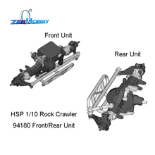 HSP RACING RC CAR ROCK CRAWLER 1/10 ELECTRIC 4WD OFF ROAD 94180 94180T2 FRONT UNIT AND REAR