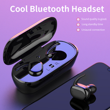 T2C СПЦ Беспроводной Mini Bluetooth наушники Спорт уха телефон с микрофоном Портативный зарядки окно для Xiaomi huawei мобильный стерео