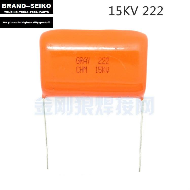 10PCS/LOT Argon arc welding machine dedicated GRAY CHM 15 222 kv high-voltage CBB capacitance arc effect is good  10pcs 15kv 2200pf 222 high voltage ceramic capacitor