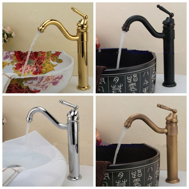 Antique Brass Tap 4 Color Basin/Sink Faucets Bathroom Water Saving Nozzle Filter Faucet Torneira