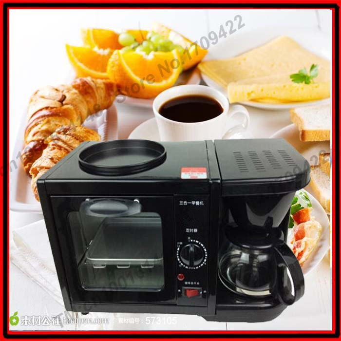 3 In 1 Breakfast Maker Coffee Maker Frying Pan Toaster