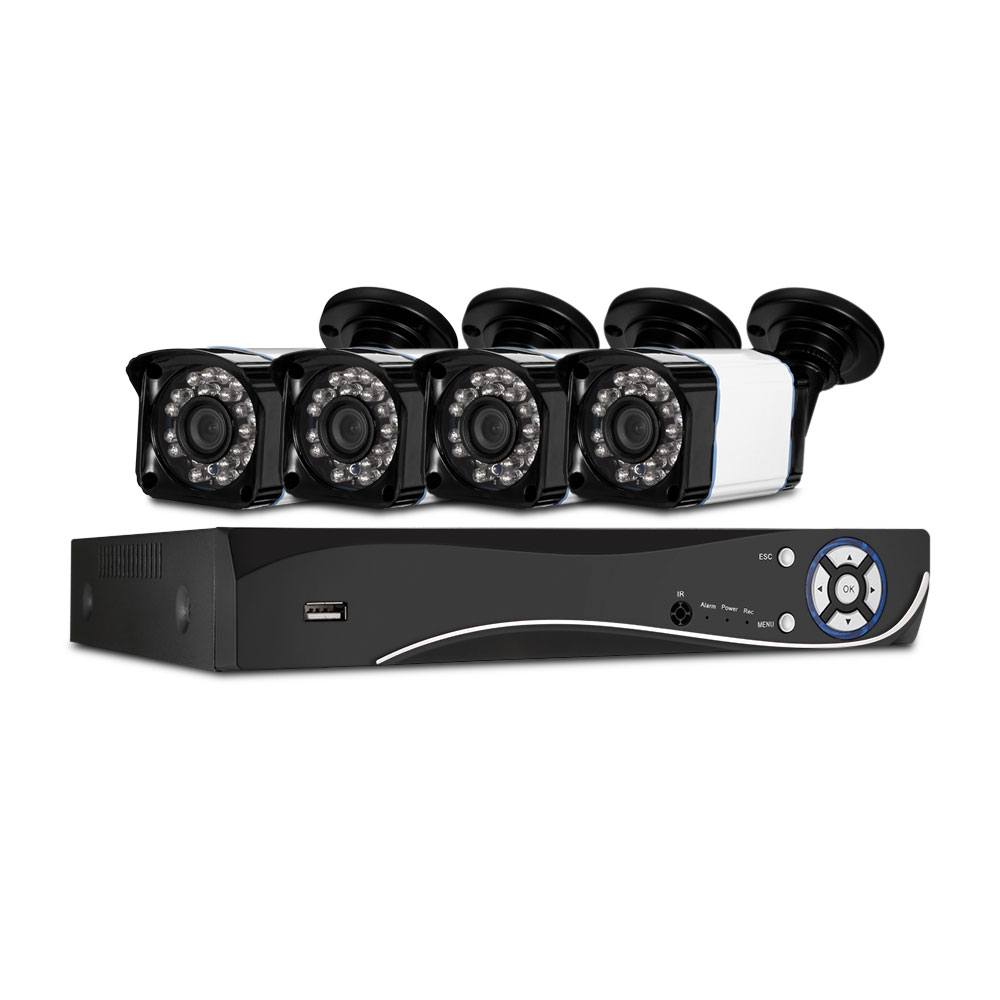 HA - 0384X - AB200 8CH House Camera System DVR 1080N and 4PCS Bullet Home Security Cameras 3000TVL HD Resolution