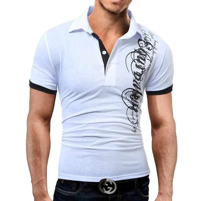 Hot Sale New 2018 Fashion Brand Male Polo Shirt Printing Short-Sleeve Slim Fit Shirt Men Polo Shirts Casual Shirts