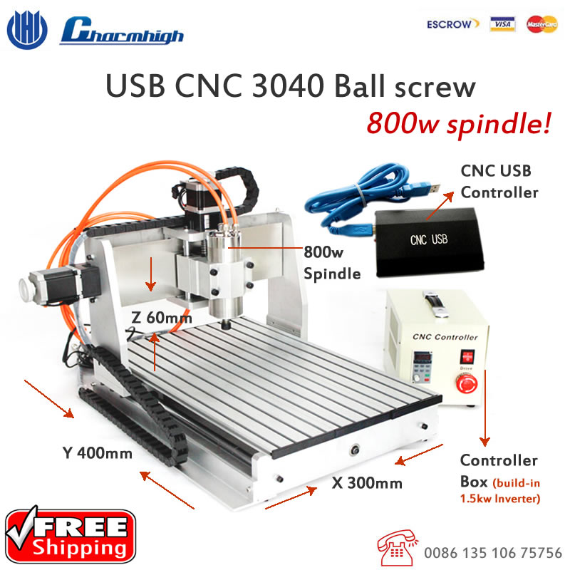 Free Shipping Usb Controller Usb Cnc3040z Cnc Router
