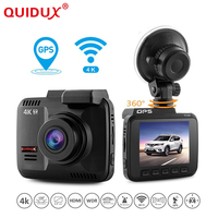 QUIDUX 4K 2 4 Inch Car Dvr Novatek 96660 Wifi Car Camera GPS Logger Camcorder Ultra