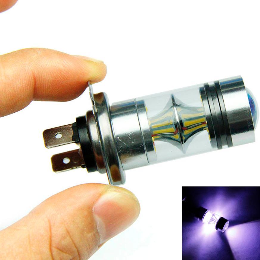 2x 100W H7 LED Bulb 20 SMD Car Fog Light DC 12V~24V 360 Degree White for Car Decoratuib 2x 80w h7 led bulb 16 smd osram car fog light dc 12v 24v 360 degree 760lm white fog light 6000k drl fog lamp light sourcing