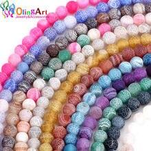 Круглые матовые разноцветные бусины olingart 6 мм 50 шт/лот