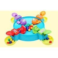 New Hot Crianças Alimentando Pouco Sapo Jogo de Tabuleiro Coletando Bolas Jogar Fun Toy Set Presentes Brinquedos Da Novidade Presentes Criativos Presentes