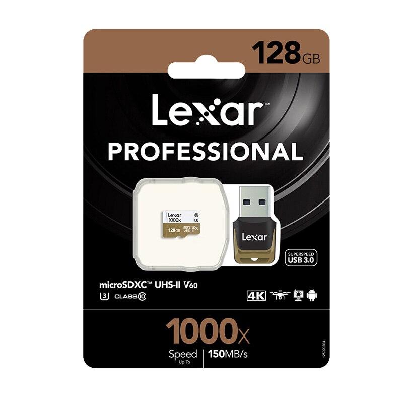 Image 5 - Оригинальный Lexar карты Micro SD карты 128 ГБ UHS II U3 Max 150 МБ/с. автомобиль TF карты флэш памяти класса 10 для беспилотная спортивная видеокамера-in Карты памяти from Компьютер и офис