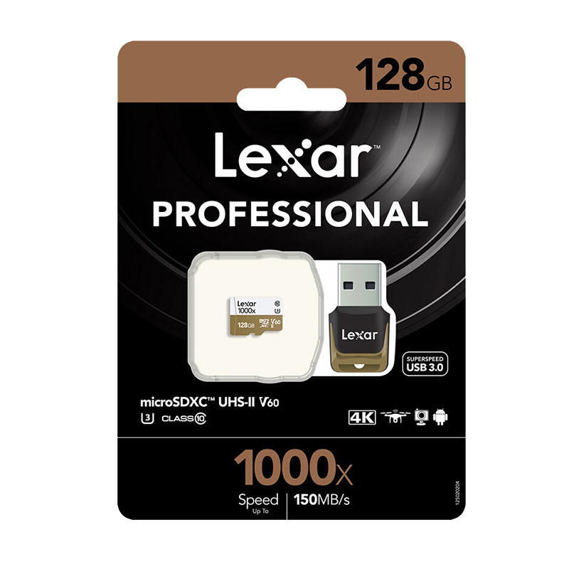 Image 5 - Original Lexar tarjeta Micro SD Card 128GB UHS II U3 Max 150MB/s car TF Flash Memory cards Class 10 for Drone Sport Camcorder-in Micro SD Cards from Computer & Office