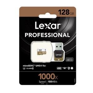 Image 5 - をオリジナルレキサー tarjeta マイクロ SD カード 128 ギガバイト UHS II U3 最大 150 メガバイト/秒車 TF フラッシュメモリカードクラス 10 ドローンのためのスポーツビデオカメラ