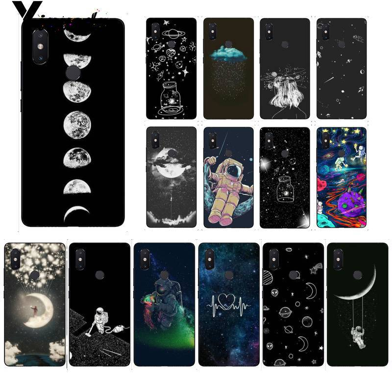 Half-wrapped Case Orderly Yinuoda Sky Space Planet Black Moon Stars Tpu Phone Cover For Xiaomi Mi 6 Mix2 Mix2s Note3 8 8se Redmi 5 5plus Note4 4x Note5 Reliable Performance