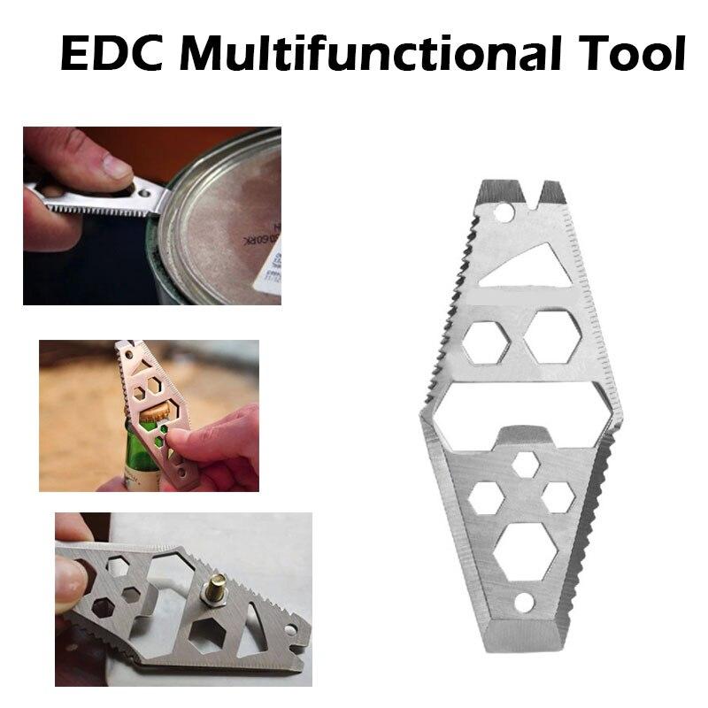 Outdoor Self Survival EDC Stainless Steel Emergency MultifunctionTool OpenerVT