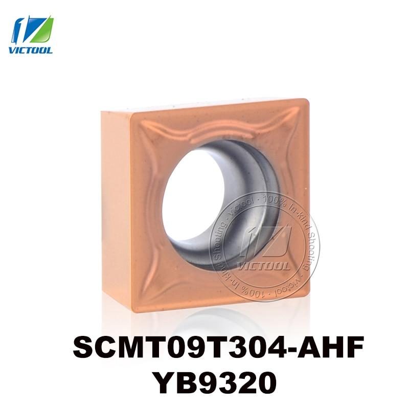 SCMT09T304-AHF YB9320 کاربید چرخشی تنگستن درج ابزار CNC برای نیمه تمام و اتمام فولاد ضد زنگ SCMT 09T304