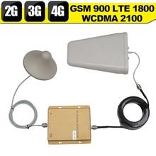 2 Г 3 Г 4 Г GSM 900 WCDMA 2100 LTE 1800 Трехдиапазонный Мобильный телефон Сигнал Повторителя GSM Усилитель Сигнала 3 г 4 г 4 Г LTE Антенны набор