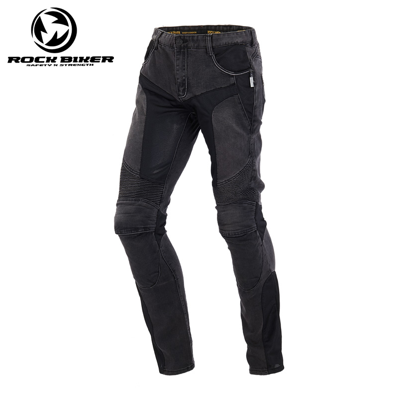 ROCK BIKER Spring Summer Motorcycle Leisure Jeans Breathable Riding CE Protector Pantalon Moto Motocross Pants Motorcycle Jeans