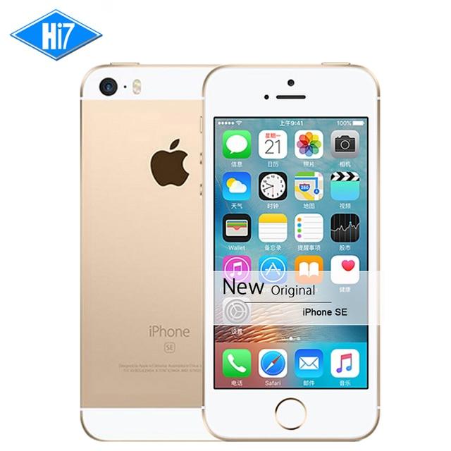 """Новый Оригинальный Apple iPhone SE Разблокирована LTE Мобильный Телефон 2 ГБ ОЗУ 16/64 ГБ ROM 4.0 """"чип A9 iOS 9.3 двухъядерный Отпечатков Пальцев iphonese"""