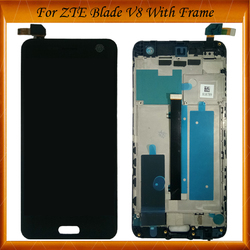 100% Tested Well For ZTE Blade V8 LCD Display Touch Screen Digitizer For ZTE Blade V8 BV0800 Screen LCD With Frame IN Stock