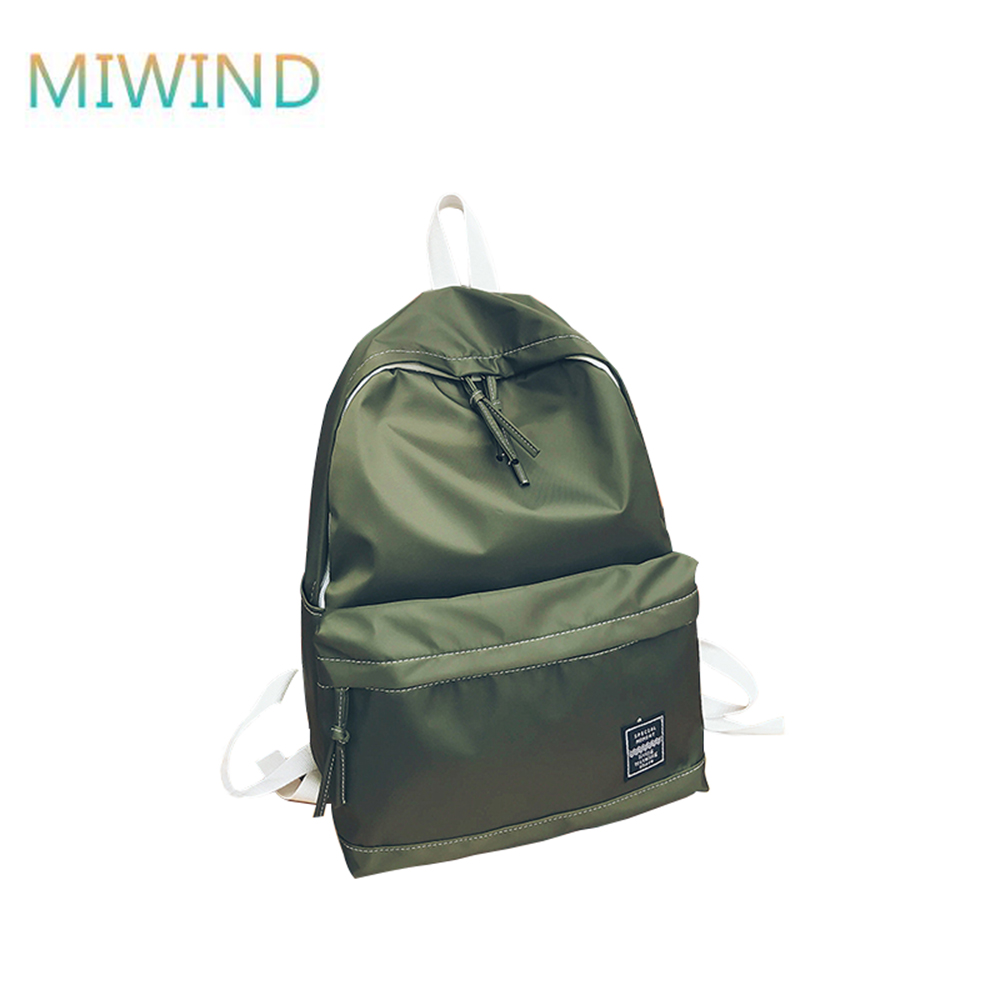 MIWIND Canvas Small Backpack Unisex School Bags For Teenage Backpack For Students Backpa ...