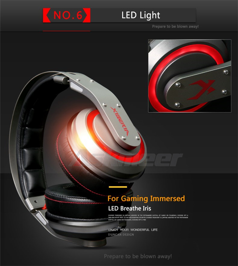 USB Gaming Headphones with Micrphone 7.1 Surround Sound Stereo Glowing Headset (15)