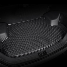 цена на HeXinYan Custom Car Trunk Mats for Mitsubishi All Models ASX outlander pajero grandis pajero sport lancer galant Lancer-ex