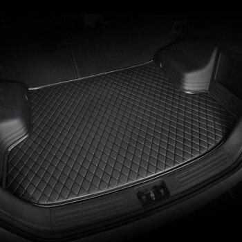 цена на HeXinYan Custom Car Trunk Mats for Mitsubishi All Models ASX outlander pajero grandis pajero sport lancer galant Lancer-ex