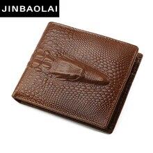 new arrive men wallets JINBAOLAI famous brand genuine leather wallets design wallet with coin pocket for men card holder wallet