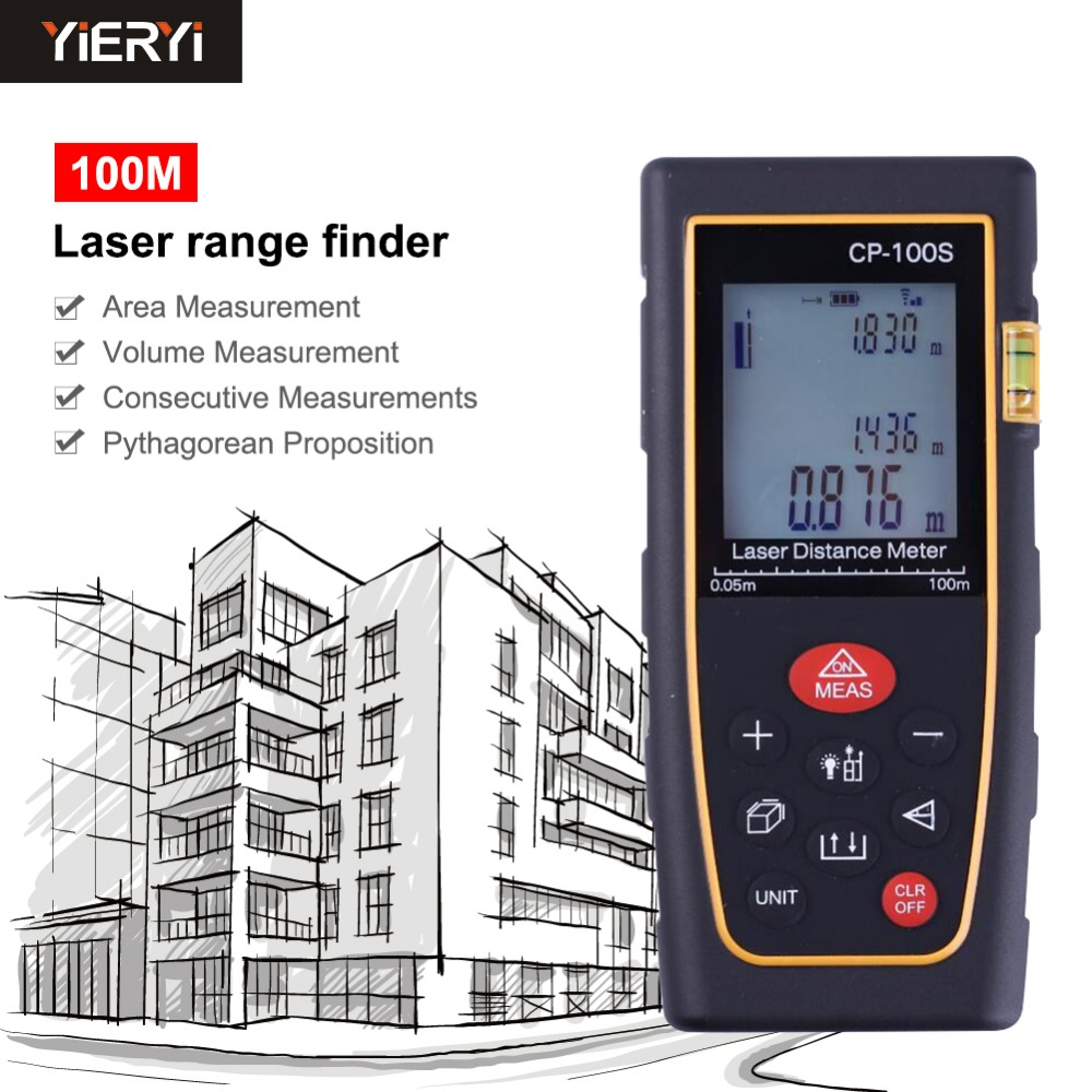 yieryi Laser Distance Meter CP-100S Laser Range Finder Hand-held 100m Distance Measurement with ODD HD Blacklight 50pcs m3 iso7380 gb70 2 304 stainless steel a2 round head screws mushroom hexagon socket length 4mm to 25mm