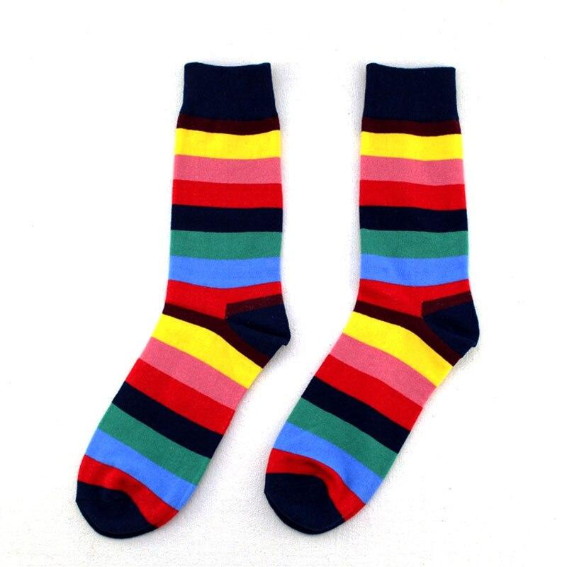 IOLPR men happy socks hip hop colorful striped personality middle tube socks cotton comfortable European plus size socks in Men 39 s Socks from Underwear amp Sleepwears