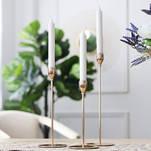 3PCS/Set Candlestick Candle Holders Wedding/Dinning Table Decorative Modern Style Gold Metal Bar Party Home Decor