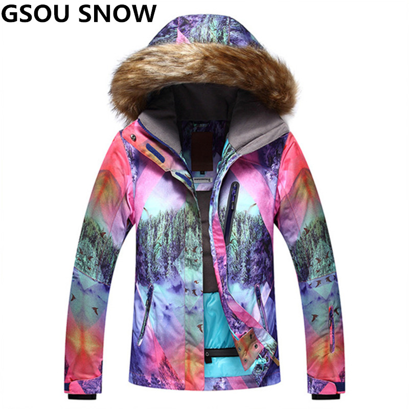 GSOU SNOW Waterproof 10K Women Ski Jacket Girls Snow Jacket Super Thermal Skiing And Snowboarding Snowboard Jacket High Quality power supply for pwr 7200 ac 34 0687 01 7206vxr 7204vxr original 95%new well tested working one year warranty