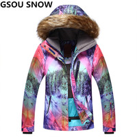 GSOU SNOW Waterproof 10K Women Ski Jacket Girls Snow Jacket Super Thermal Skiing And Snowboarding Snowboard