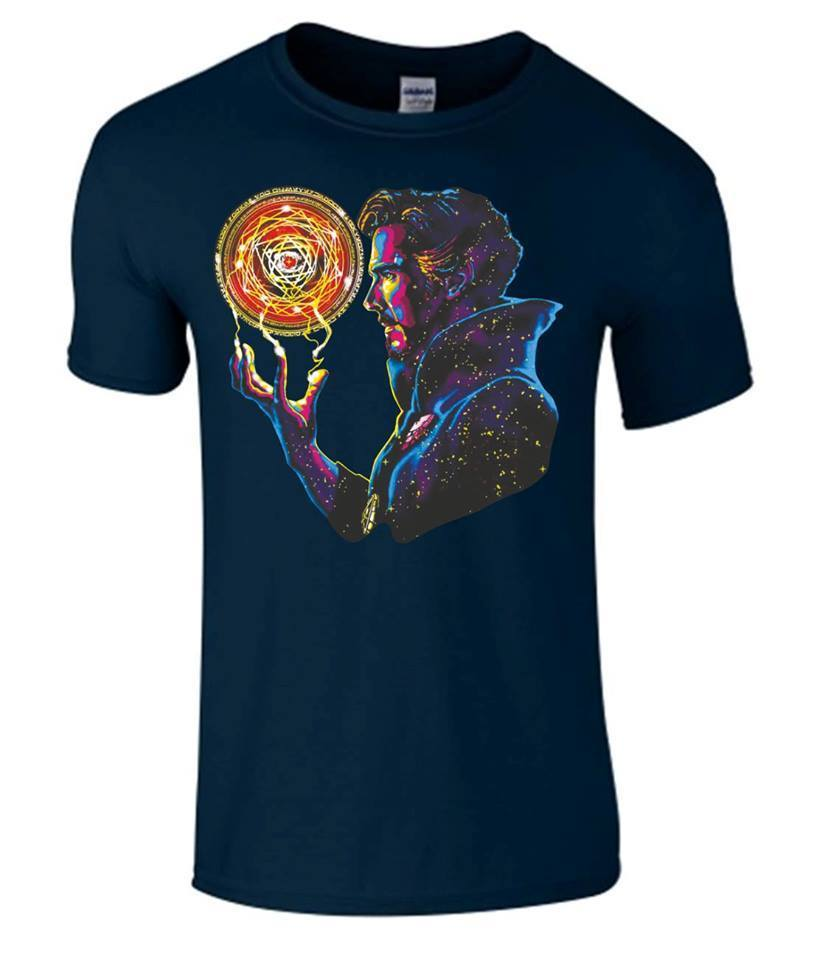 Doctor Strange T Shirt Benedict Cumberbatch Top Magic Sort Sanctum Du S Au 2XL Men Short Sleeve Original T-shirt The New