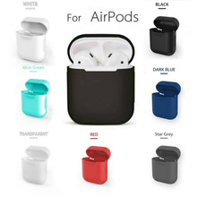 Funda de silicona/limpieza/piel para apple airpods, funda de TPU para apple airpods, accesorios, protector contra polvo/color blanco, translúcido, 17 colores