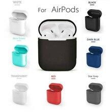 מקרה עבור airpods סיליקון/נקי/עור TPU מקרה עבור apple airpods אביזרי אבק משמר/off לבן airpods מקרה transpare 17 צבעים