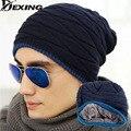 [Dexing] Мужчины Теплые Шапки Шапочка Hat Зима Шерсти Вязание Hat для мужская Caps Lady Beanie Вязаные Шапки Женские Шляпы Открытый Спорт теплый