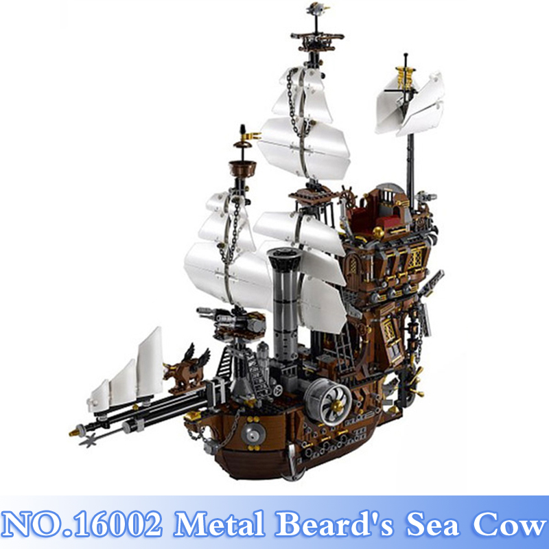 Lepin 16002 Pirate Ship 2791Pcs Metal Beard's Sea Cow Figures Building Blocks Bricks Sets Kids Toys Model Kits Compatible 70810 16002 2791pcs pirate ship metal beard s sea cow set model building kits mini blocks compatible with 70810 toys lepin