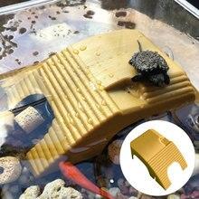 Уникальный ландшафтный рептилий скалолазание платформа черепаха греется аквариум амфибия водные скалолазание Танк лестница Плавающая Платформа