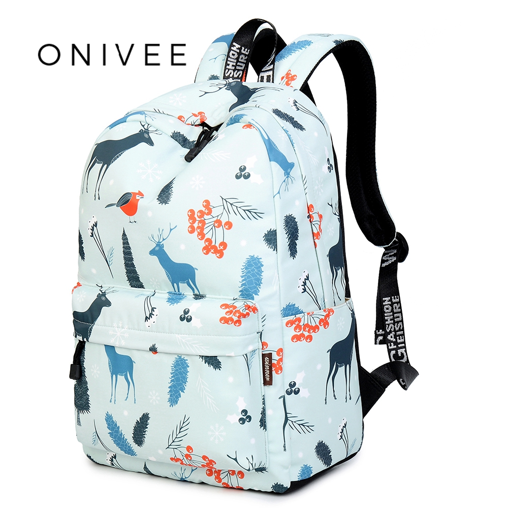 ONIVEE 2018 Women Polyester Waterproof Backpacks Large School Bags For Teenager Girls Travel Laptop Backbag A9120