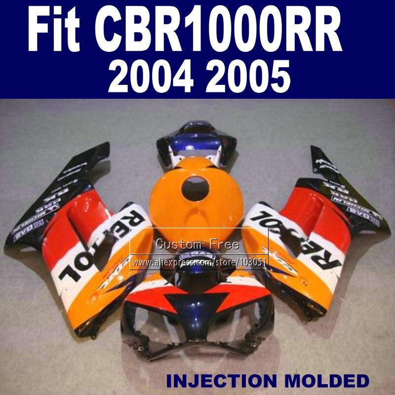 Injection verkleidung kits für Honda 2004 2005 CBR1000RR CBR 1000 RR 04 05 CBR 1000RR orange blau repsol verkleidungen teile